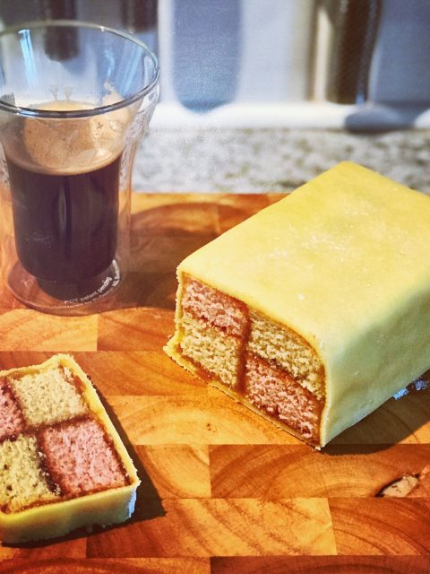 Battenberg with coffee - win!